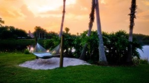 Relax on a hammock and take in the beautiful sights of Lago Doroado
