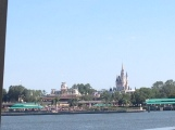 View from the ferry boat into Magic Kingdom