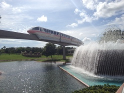 Disney's Monorail through Epcot