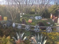 Lightning McQueen at Epcot's Flower and Garden Festival