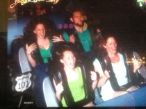 I think you can tell there is some serious thrills in Walt Disney World (As for my face well that's just fear lol)
