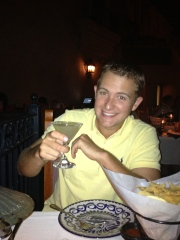 Enjoying a Margarita inside of the Mexico Pavilion at Epcot