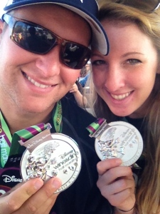 We wore our medals all around Magic Kingdom the next day and getting all the congrats was SO COOL!