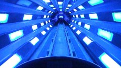 The blue strobe light tunnel is one of the most iconic moment for a Disney attraction