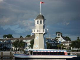 Take a boat right outside your resort to Hollywood Studios or Epcot