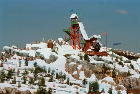 Ever drop into a ski lodge in Florida? At Blizzard Beach you can do just that!