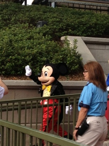 Mickey after finishing the Pre-opening show at Magic Kingdom!