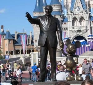 Mickey and Walt in Magic Kingdom