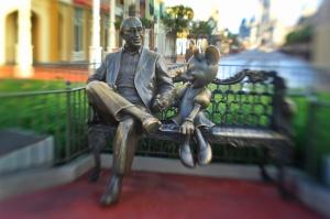 Roy and Minnie at Magic Kingdom