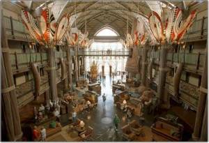 The Animal Kingdom Lodge Lobby is one of the most amazing of any in Walt Disney World over looking 30 acres of Savanna