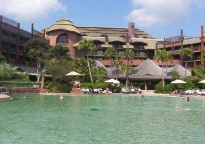 The pool at Animal Kingdom Lodge is one of the biggest and best at Disney World