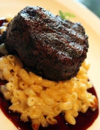 Jiko's Legendary Filet Mignon over Mac and Cheese