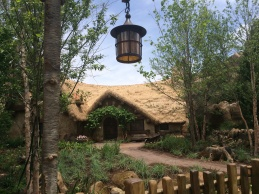 The outside queue of Mine Train takes you through the Bavarian Woods