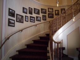 Stair case leading up to Monsieur Paul's dining room