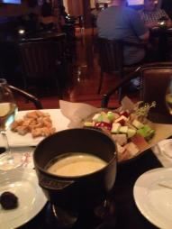 The Fondue at Territory Lounge...the picture speaks for itself delicious