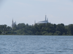 What a view from our Sea Raycer of Space Mountain and Cinderella Castle