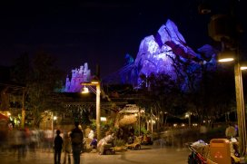If you can get over to Animal Kingdom at night...DO IT! Expedition Everest gives some incredible views at night