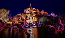 Splash Mountain provides some of the best views you can get of Cinderella Castle at night