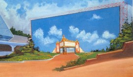 Concept Art for the Show Business Pavilion at Epcot (Courtesy Walt Dated World)