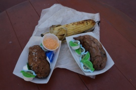 Cant go wrong with a Baked Potato, Sweet Potato, and Corn on the Cob but don't forget the pickle!