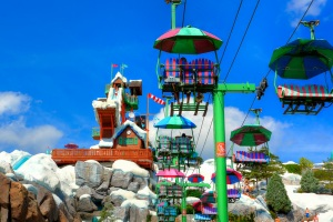 The Chairlift at Blizzard Beach is just one of many cool touches that make you feel like you are at a real melted ski resort!