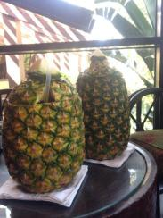 Alcohol inside a pineapple whats not to love!!! Cheers!
